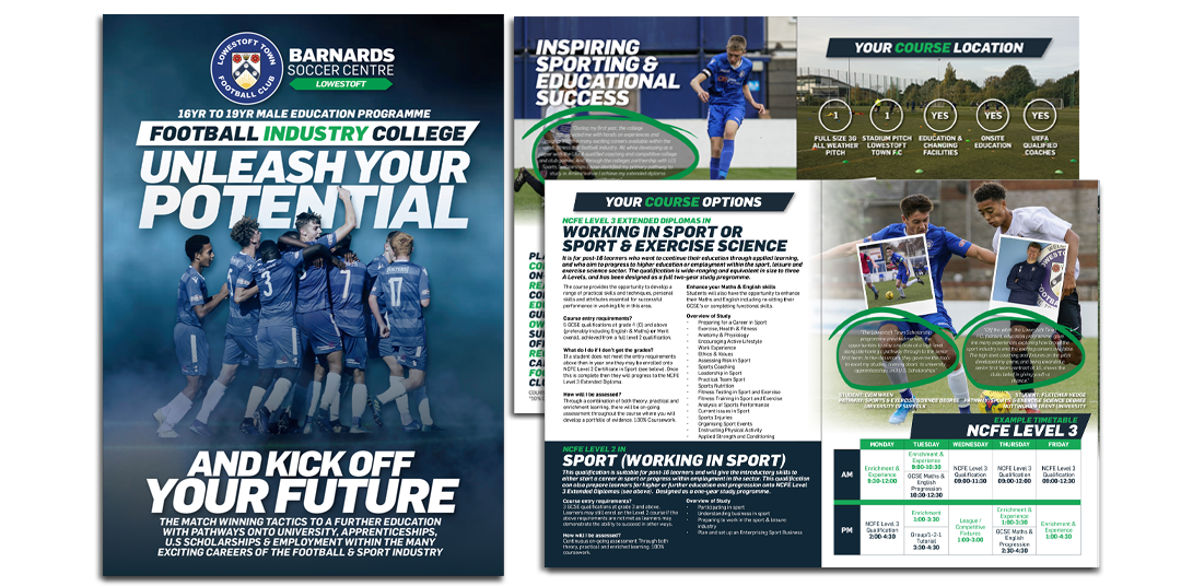 Football Industry College Lowestoft Town F.C. Brochure