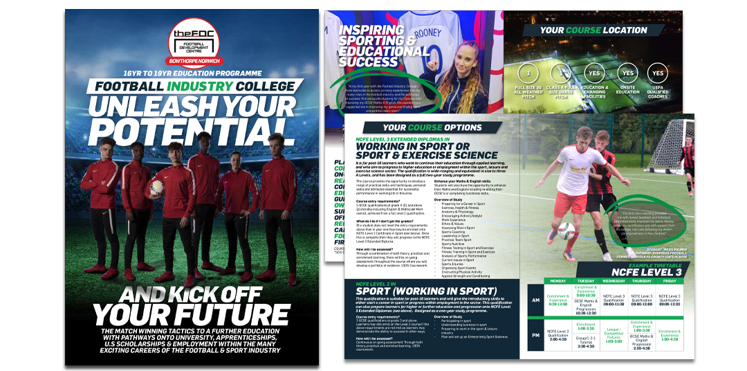 Football Industry College FDC Norwich Brochure